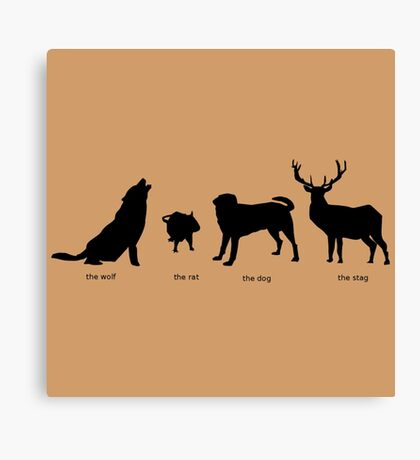 Marauders Full Body Animagus Canvas Print