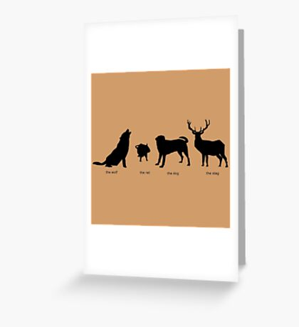Marauders Full Body Animagus Greeting Card