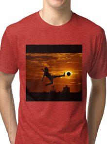 sports statue in city Tri-blend T-Shirt
