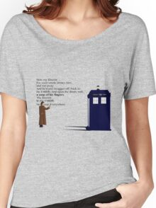 Doctor Who TARDIS River Song Quote Women's Relaxed Fit T-Shirt