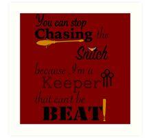 Quidditch Word Play Art Print