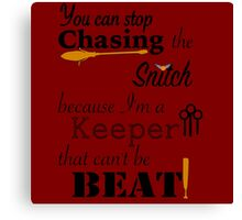 Quidditch Word Play Canvas Print