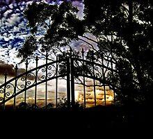 Gate Silhouette by Virginia Daniels