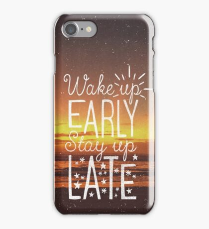 Stay Up Late iPhone Case/Skin