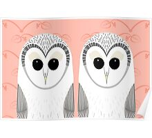 TWIN OWLS PORTRAIT Poster