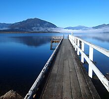 Lake Brunner jetty by Paula McManus
