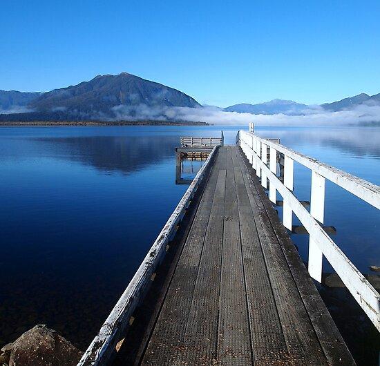 Lake Brunner jetty by Paula McManus