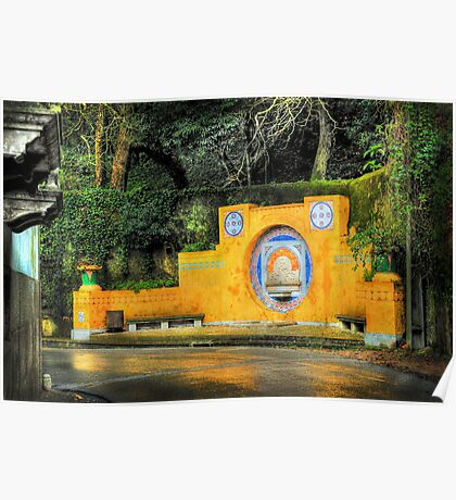 Sintra fountain Poster