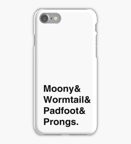 Moony & Wormtail & Padfoot & Prongs. iPhone Case/Skin