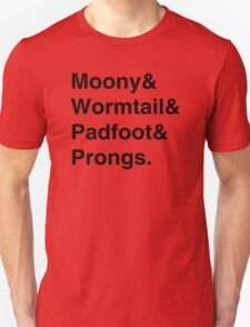 Moony & Wormtail & Padfoot & Prongs. Unisex T-Shirt