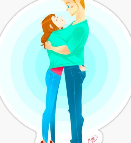 Community: Jeff & Annie Hugging  Sticker