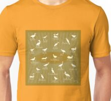 Shorebirds Silhouette - green Unisex T-Shirt