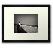 Dreaming of sailing ships and monsters Framed Print