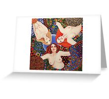 Love Triangle Greeting Card