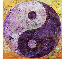 Purple Yin Yang Photographic Print