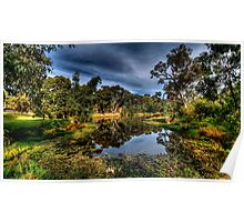 And His Ghost May Be Heard - Billabong , Wonga Wetlands - The HDR Experience Poster