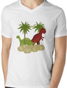 Dino Roar Kids Tshirt Mens V-Neck T-Shirt