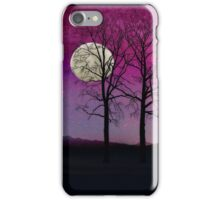 Solitude II Harvest Moon, pink opal sky stars iPhone Case/Skin