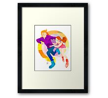 Community: Jeff & Annie Roller-Skating Framed Print
