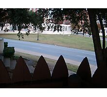 Conspiracy Theory - Stockade Fence Atop A Grassy Knoll Photographic Print