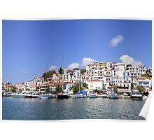 Skiathos Town Poster
