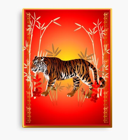 YEAR OF THE TIGER-simple Canvas Print