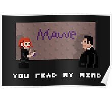 I, myself, am pixelated and unusual. Poster