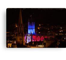Bath Abbey at night Canvas Print