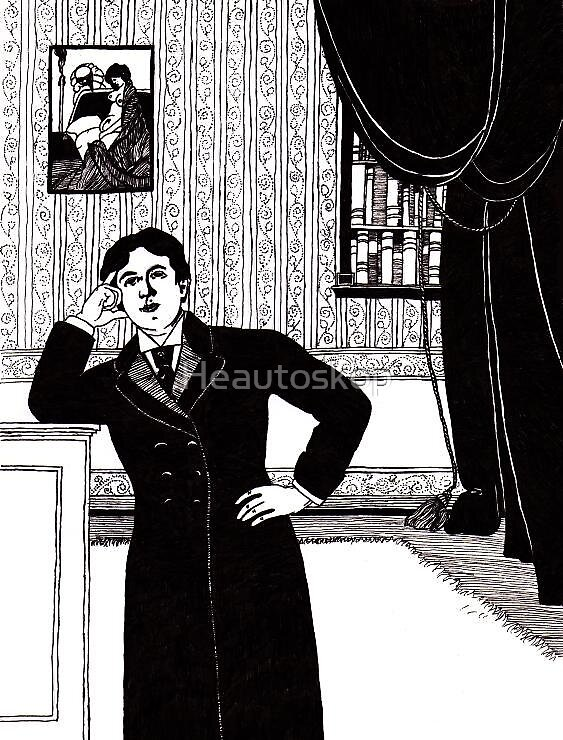 Oscar Wilde portrait by Heautoskop