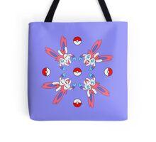 Sylveon Wheel Design on Lilac Tote Bag