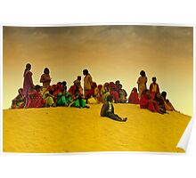 The Colors of Rajasthan and Sam Sand Dunes Poster