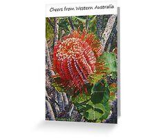 Scarlet Banksia Greeting Card