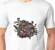 Abstract Invasion of Movement With a Blast of Color Unisex T-Shirt