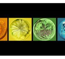 Rainbow Flower Swirls  Sticker