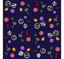 Avenger Symbol Design Photographic Print