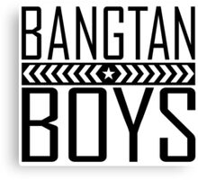 BTS/Bangtan Boys - Military Style Canvas Print