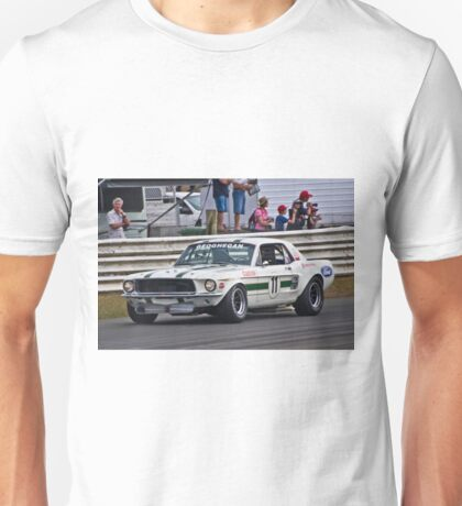 Pete Geoghegan 67 Ford Mustang GTA Unisex T-Shirt