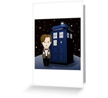 Kokeshi 11th Dr. Who Greeting Card