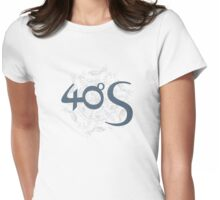 40ºS logotype on Birdwheel background Womens Fitted T-Shirt