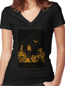 Explore What's Out There Women's Fitted V-Neck T-Shirt