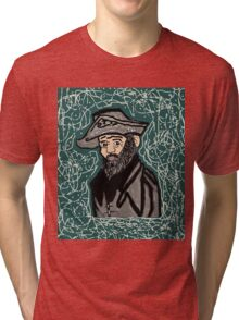 Mystery Man in the Beard Tri-blend T-Shirt