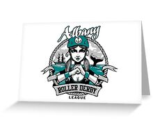 Albany Roller Derby League Logo Greeting Card