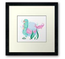 Pastel Mermaid Framed Print