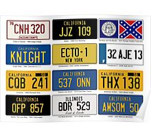 Famous Number Plates Poster