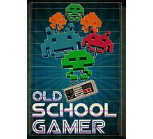Old School Gamer Photographic Print