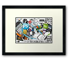 My Working Life Framed Print