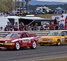 Skaife Skyline GTR R32 and Pinepac Ford Mustang by TGrowden