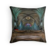 Manila Cathedral Pipes Throw Pillow