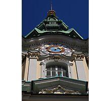 Clock tower of Parish Church, Graz Photographic Print