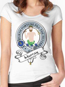 00029 Murray Clan/Family Tartan Women's Fitted Scoop T-Shirt